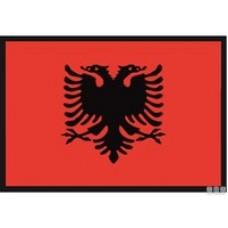 BANDIERA ALBANIA 20X30CM